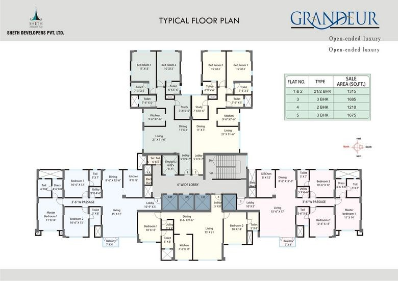 Vasant Grandeur Typical Floor Plan