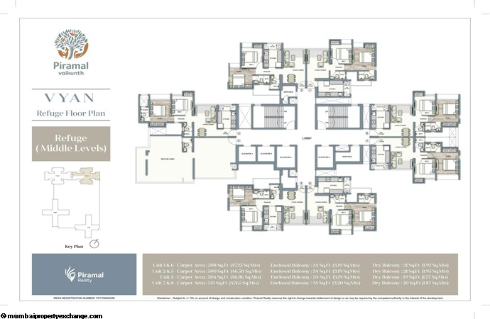 Piramal Vaikunth Vyan Piramal Vaikunth Vyan Refuge Floor Plan Middle Level