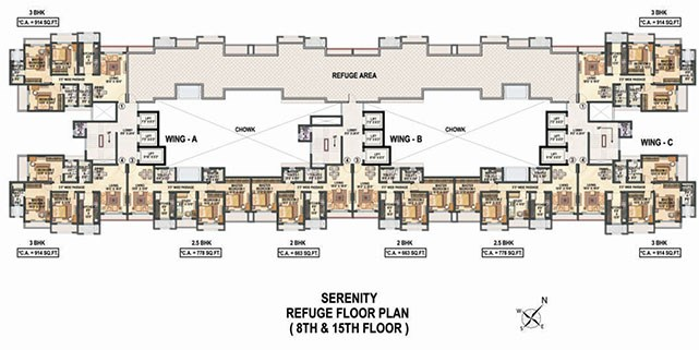 Raheja Reflection Serenity Floor Plan