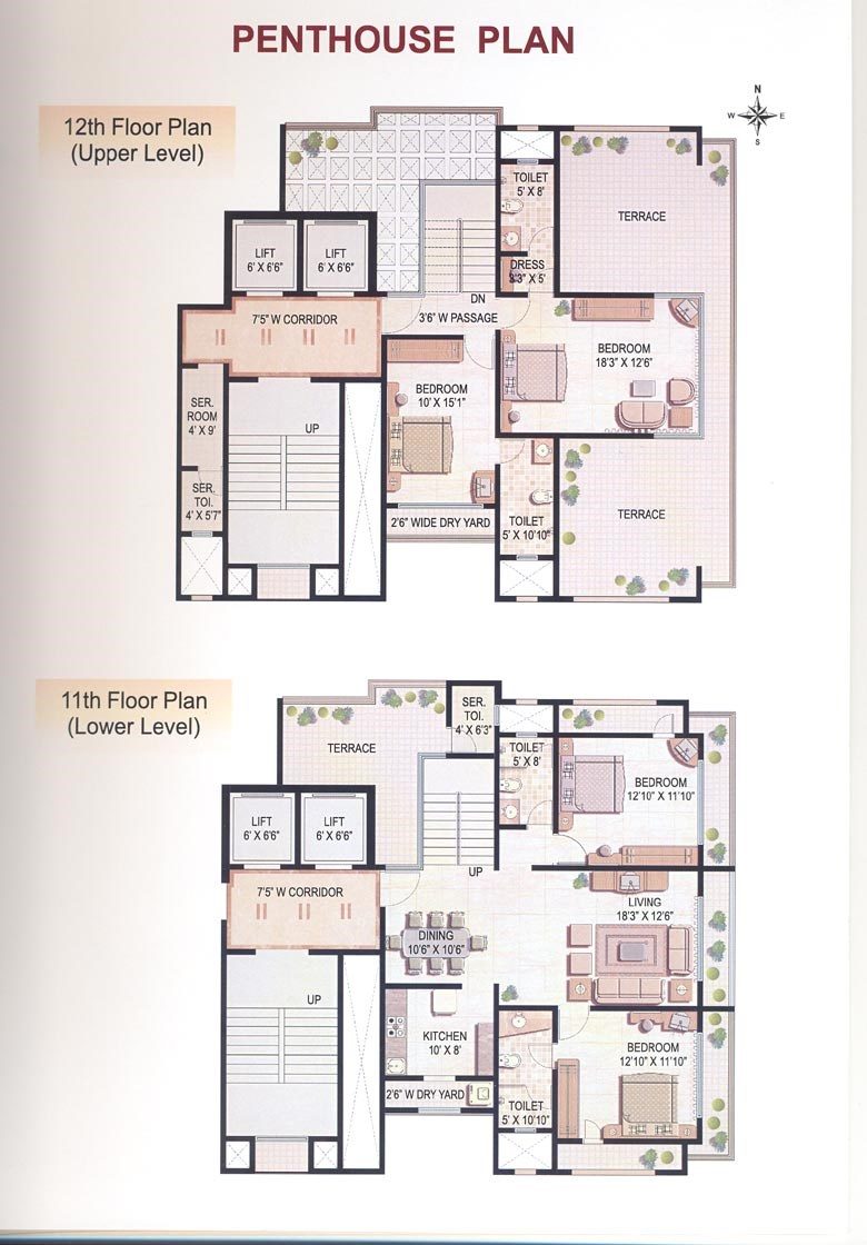 Lilou Villa Penth house Floor Plan
