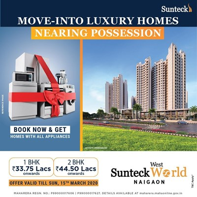 Sunteck West World, Naigaon East by Sunteck Realty Limited