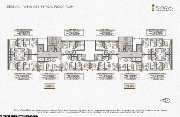 Sienna Wing A-B-Typical-floor-plan