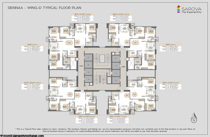 Sarova Sienna Wing D-Typical-floor-plan