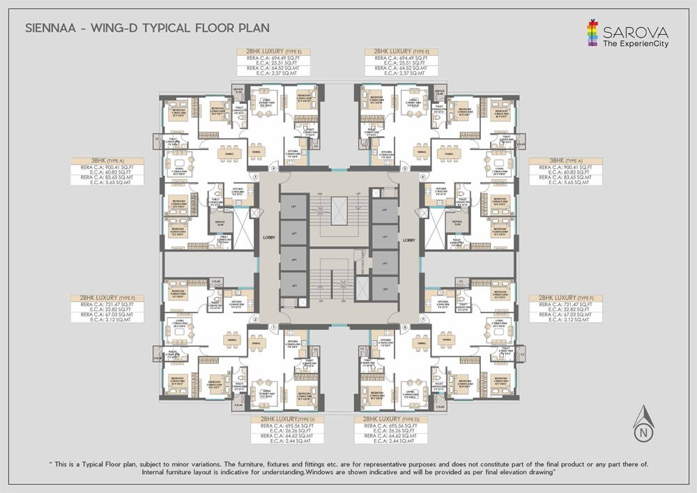 Sienna Wing D-Typical-floor-plan