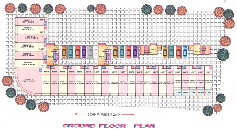 Riddhi Siddhi Heritage Ground Floor Plan