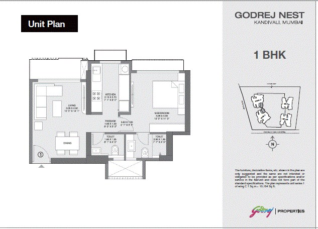 Godrej Nest 1BHK Plan