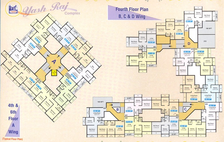 Yash Raj Complex Fourth floor plan
