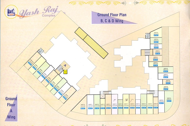 Yash Raj Complex Ground Floor Plan