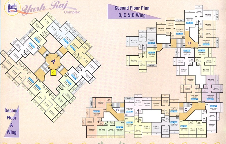 Yash Raj Complex Second Floor Plan