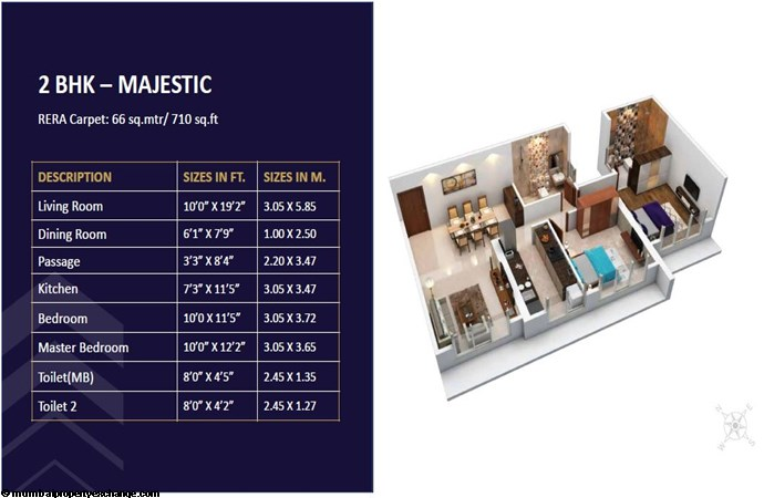 Satellite Elegance Satellite Elegance 2BHK Majestic