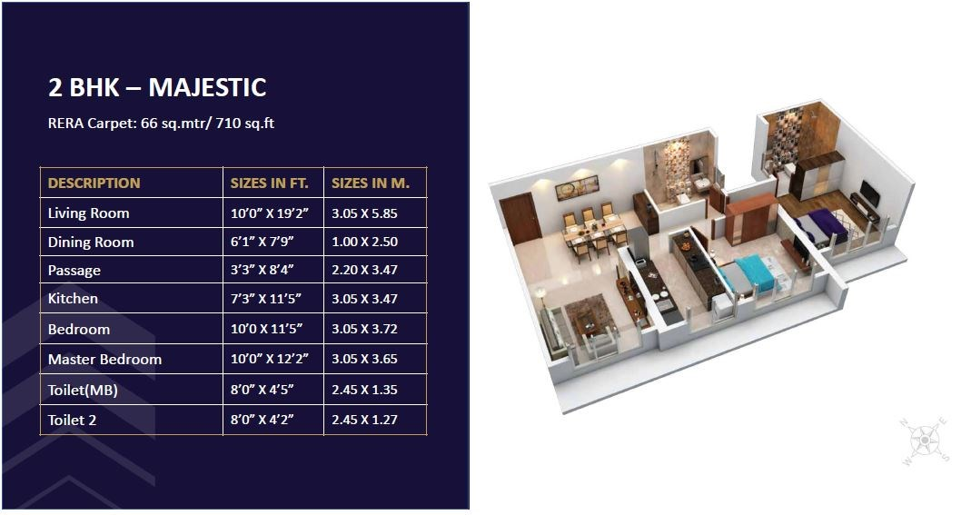 Satellite Elegance 2BHK Majestic