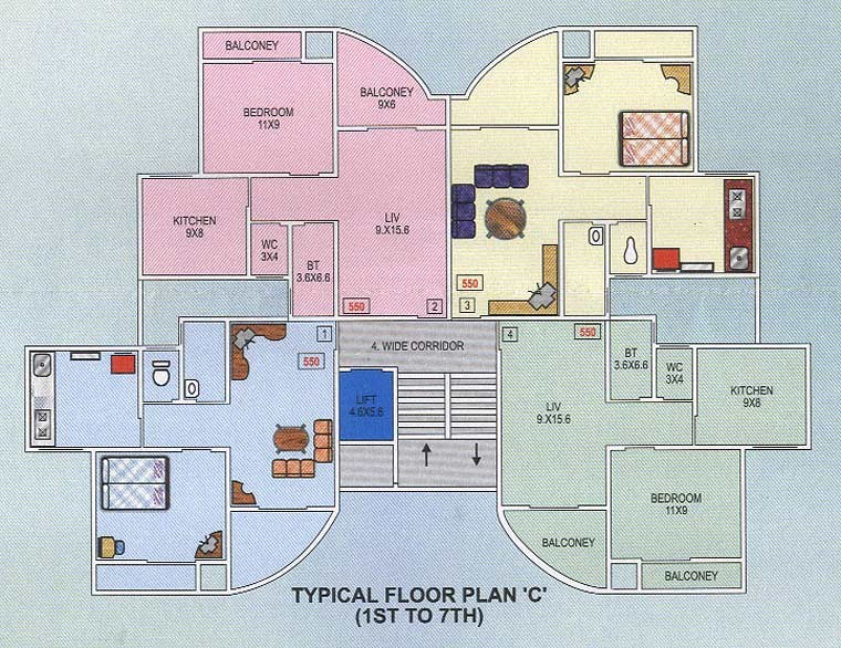 Chrisand Crown C Wing Floor Plan