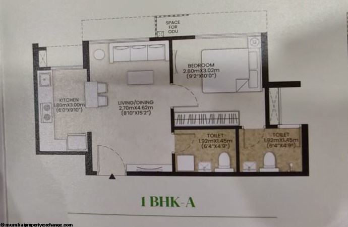 Mahindra Happinest Kalyan Happinest Kalyan 1BHK-A