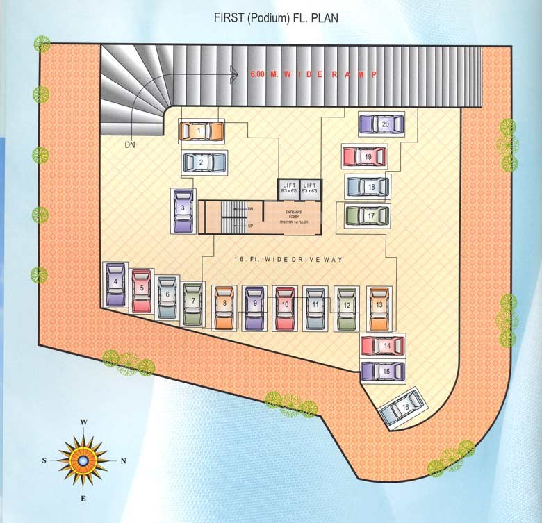 Satyam Height First Podium Floor Plan