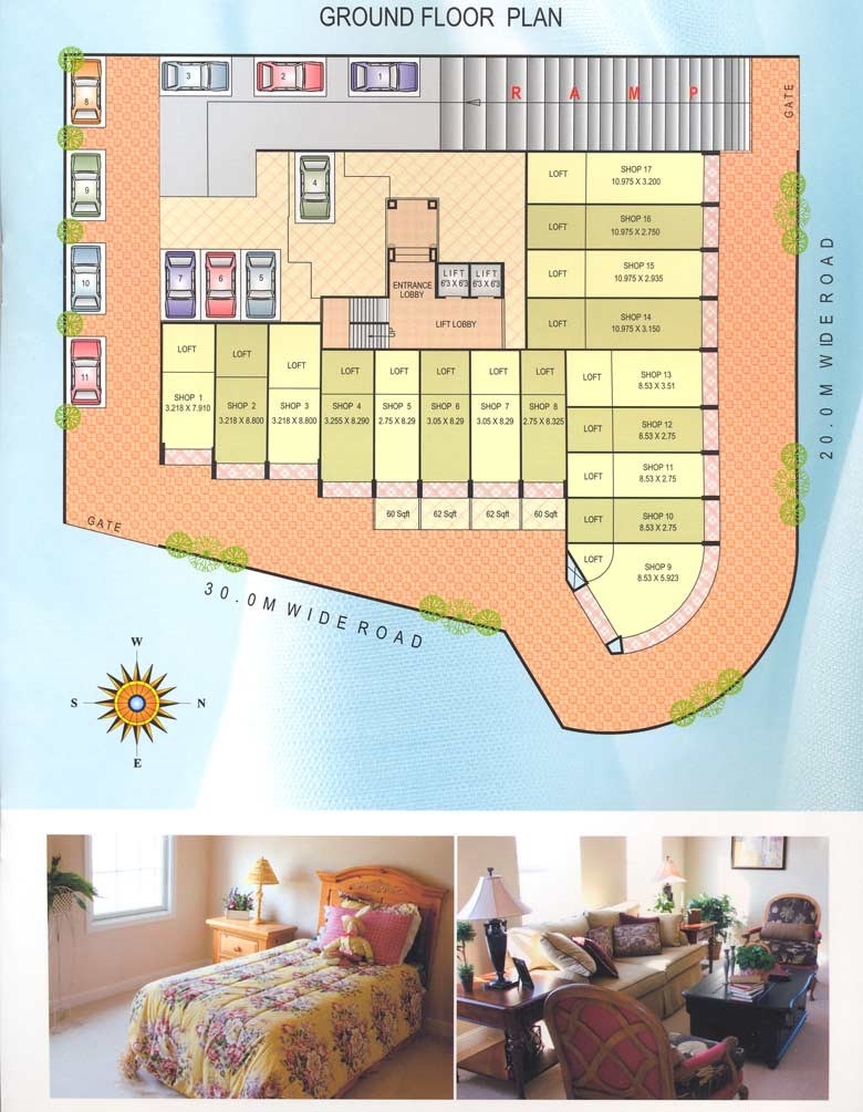 Satyam Height Ground Floor Plan
