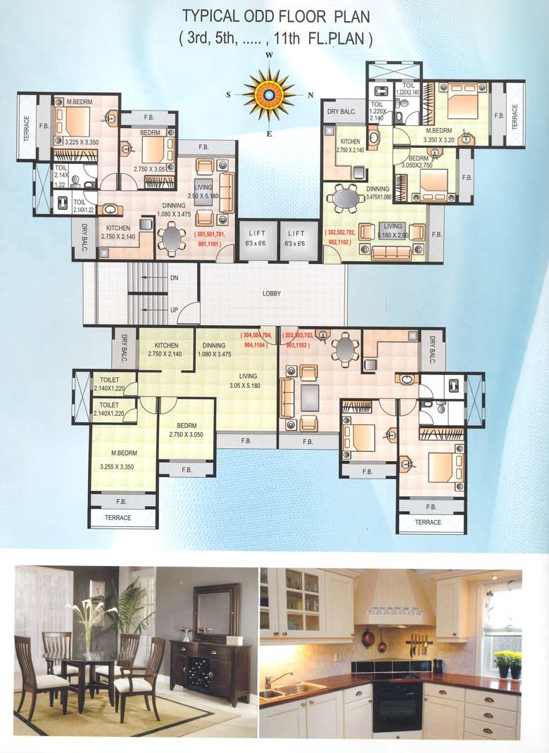Satyam Height Typical Odd Floor Plan