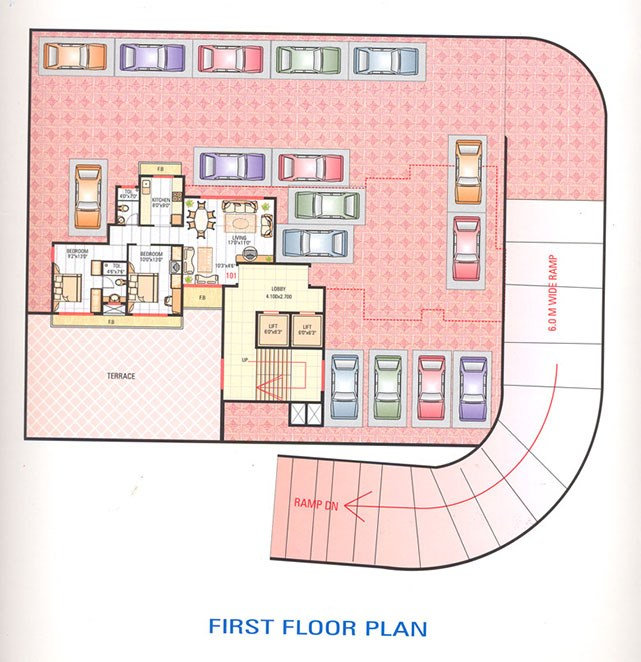 Poonam Tower 1st Floor Plan