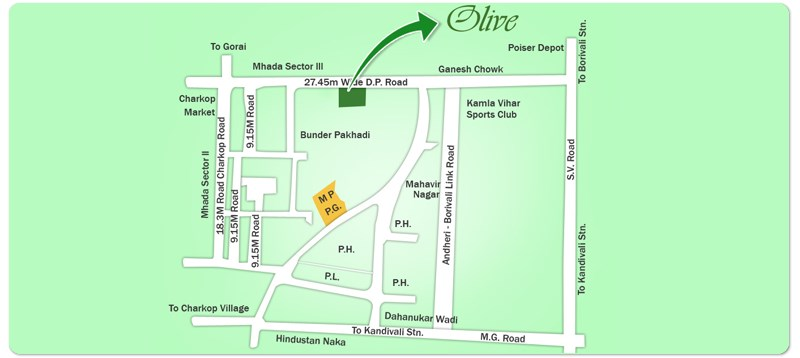 Olive Location Plan