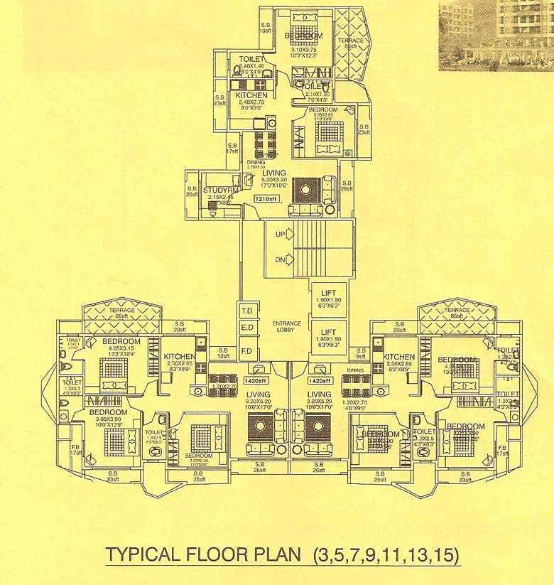 Trimurti Heights Odd Floor Plan