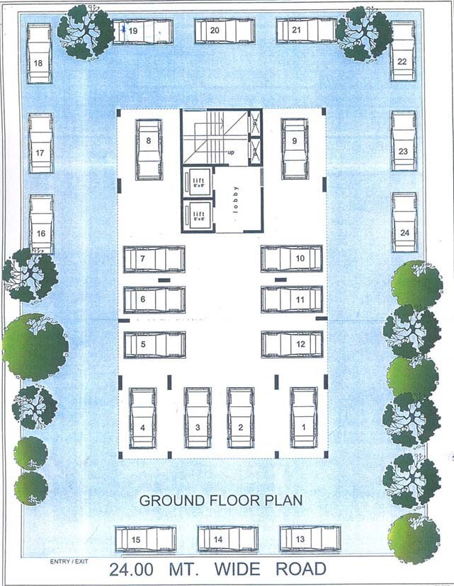 Satyam Heritage Ground Floor PLan