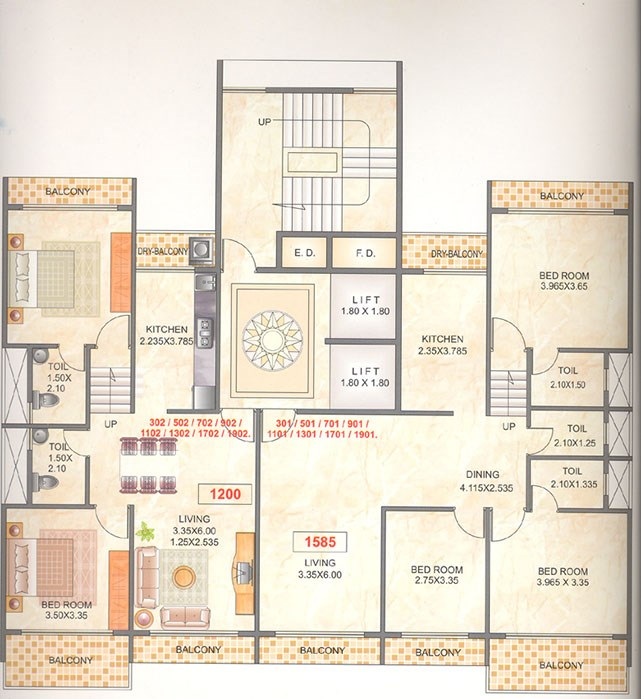 Mahapragya Heights Odd Floor Plan