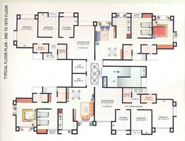 3130 Oth Floor Plan Of 2 To 18 - Harmony Horizons, Thane West