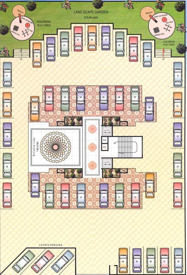 Asian Tower Ground Floor Plan