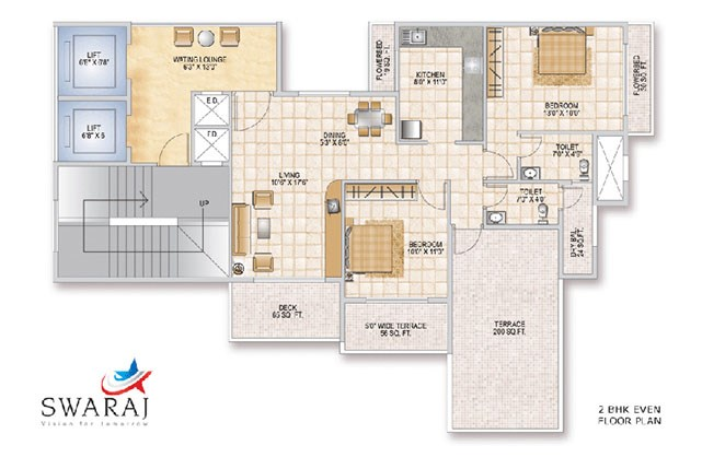Swaraj Queen Bay Even Floor Plan