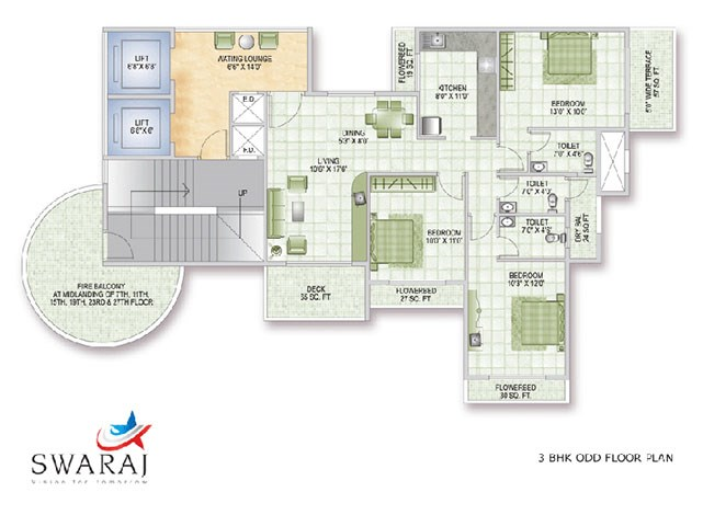 Swaraj Queen Bay Odd Floor Plan