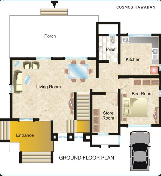 Hawaiian Village Floor plan
