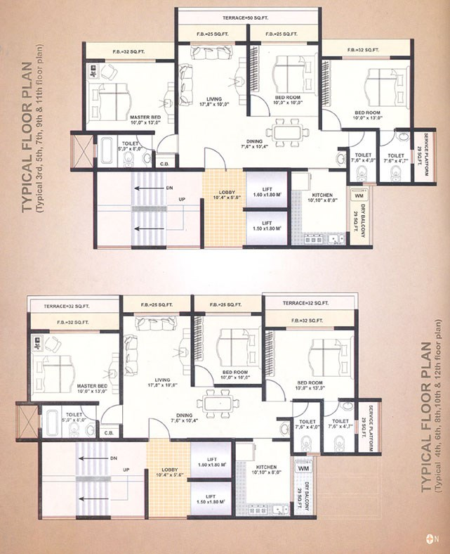 West Wind Typical Floor Plan