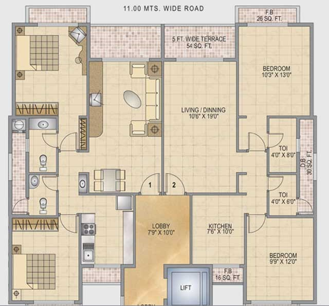 Monarch Ambience Floor Plan I