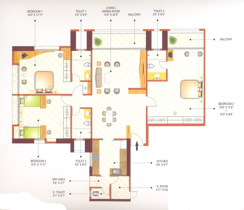 Ashok Towers Floor Plan IV