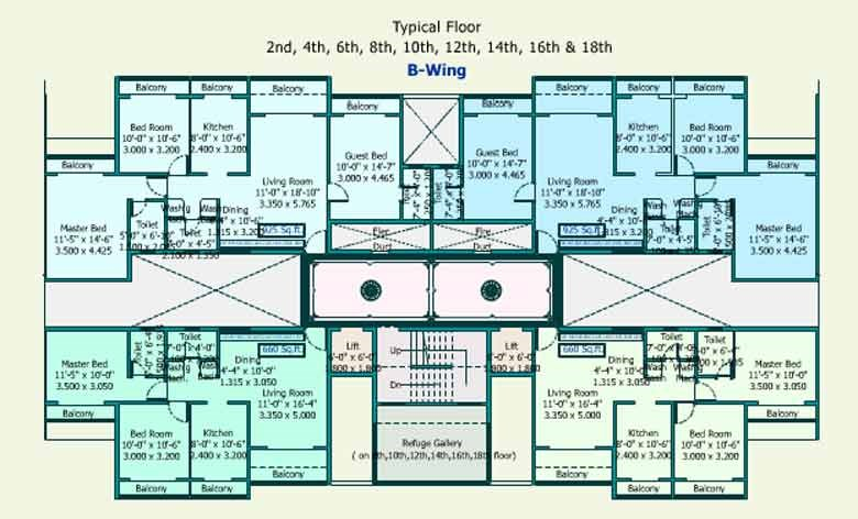 Sea Queen Excellency Floor Plan II