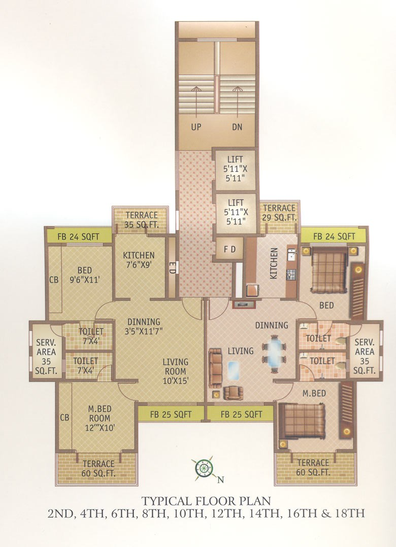 Tricity Symphony Even Floor Plan