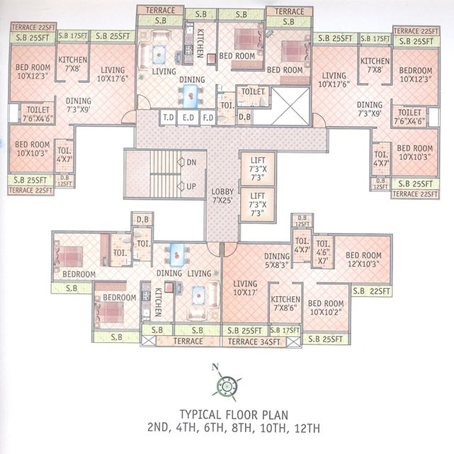 Bhoomi Dhara Even Floor Plan