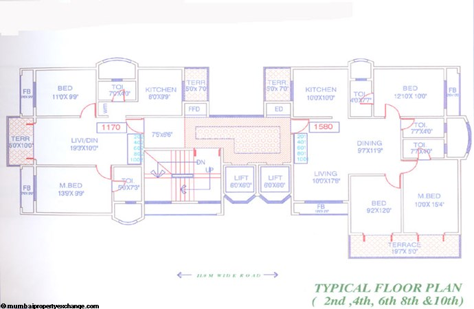 Sadguru Prism Even Floor Plan