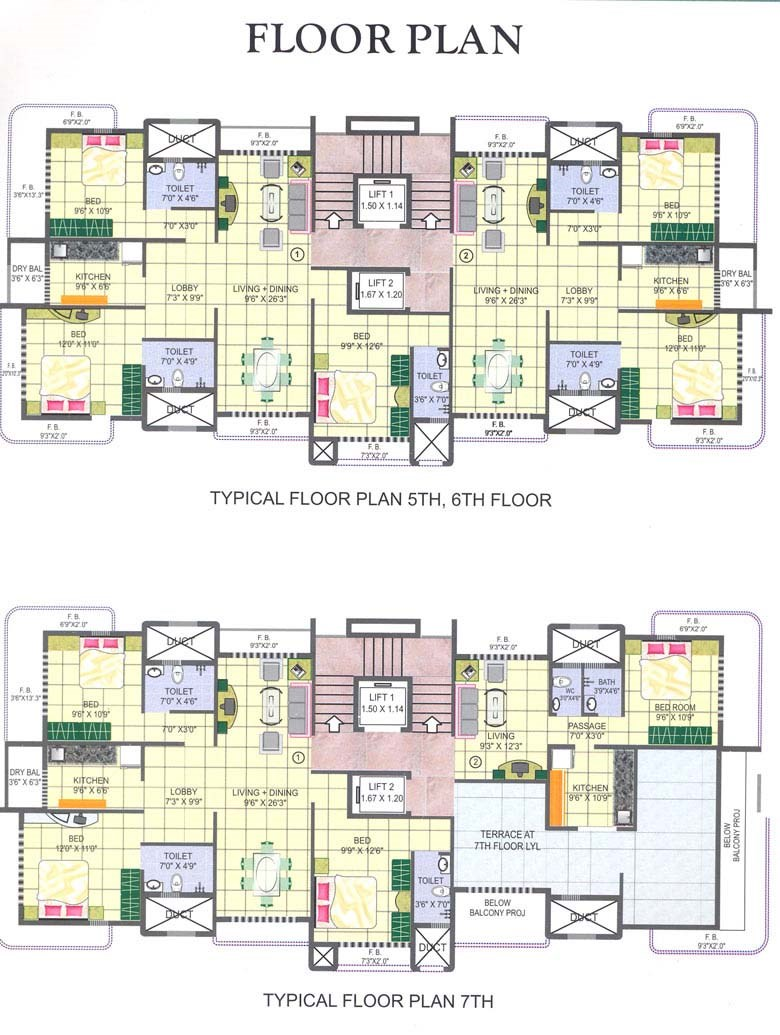 Nirav Apartment Typical Floor Plan