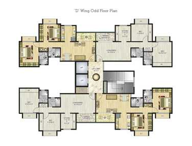 Flat on rent in Neel Sidhi Atlantis, Nerul