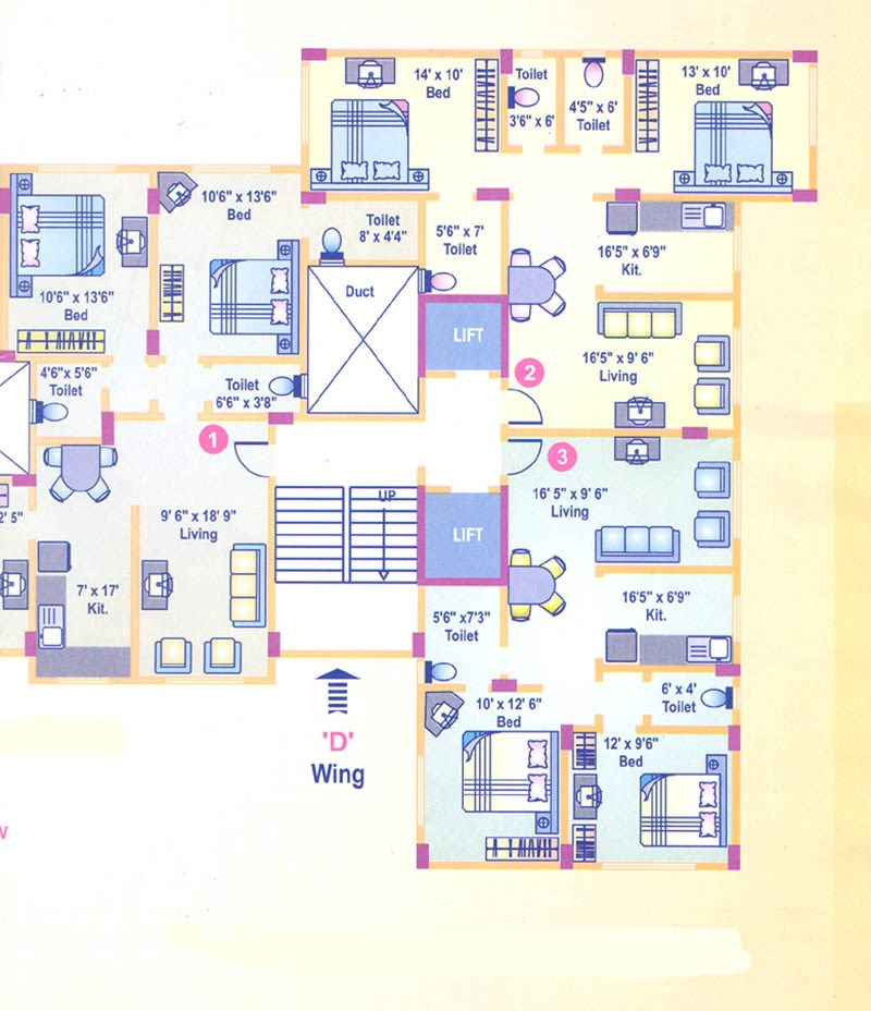 Miraaj Residency Floor Plan I