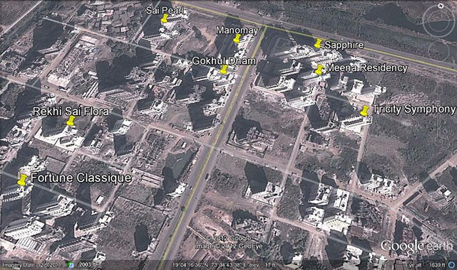 Meena Residency Google Earth