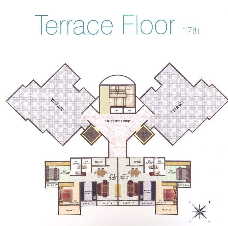 Meena Residency Terrace Floor Plan