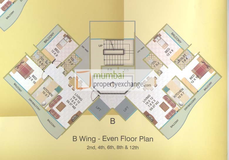 Elite Heights Even Floor Plan I