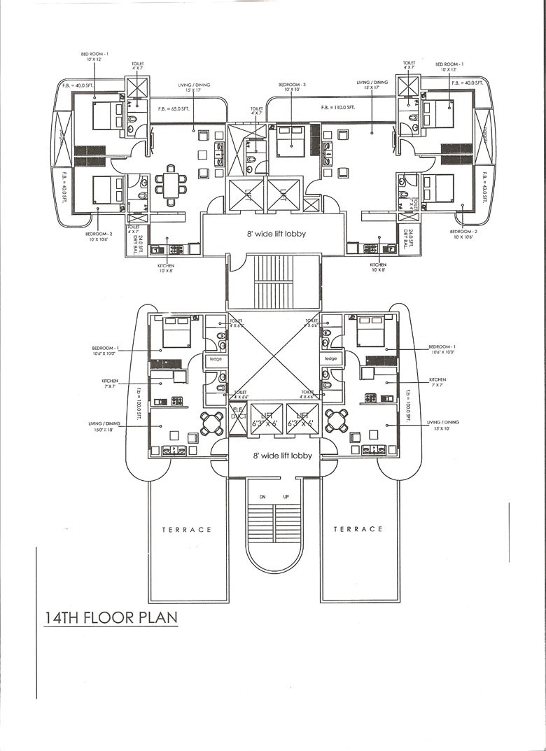Retromagnum Floor Plan 14th floor