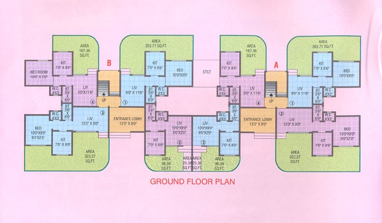 Vinay Vihar Ground Floor Plan