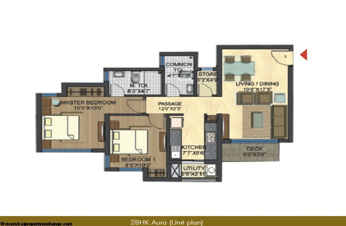 Casa Bella Gold Unit Plan 2 BHK