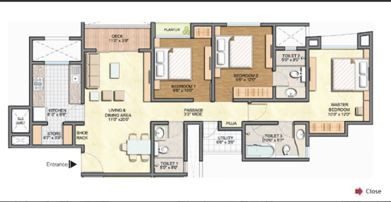 Lodha Aurum Floor Plan IV
