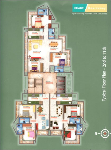 Bhakti Residency Floor Plan I
