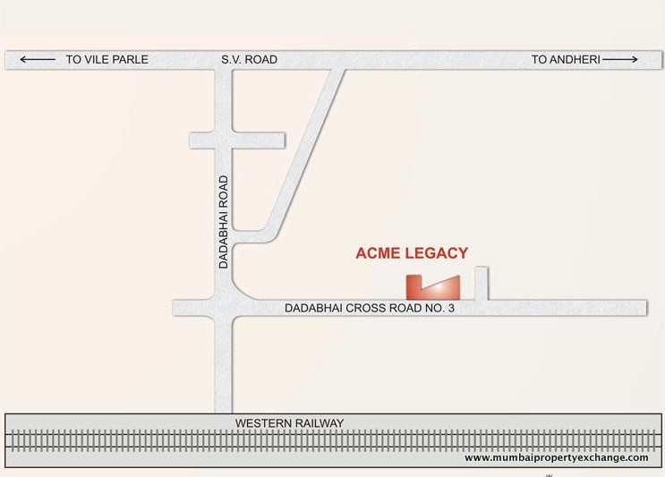Acme Legacy Location map