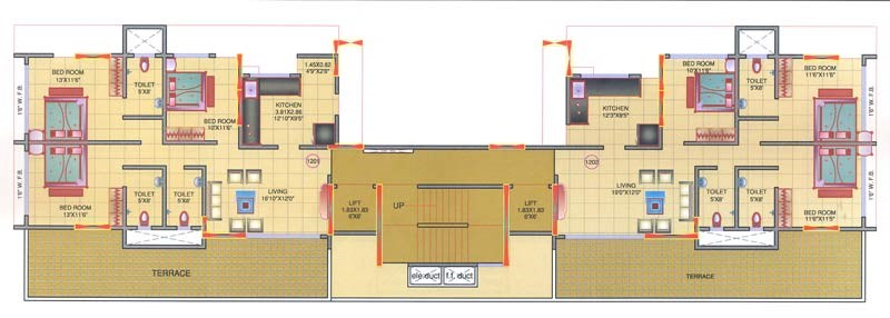 Mohini Tower 12th Floor Plan